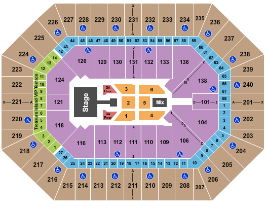 seating chart for Target Center Kane Brown - eventticketscenter.com