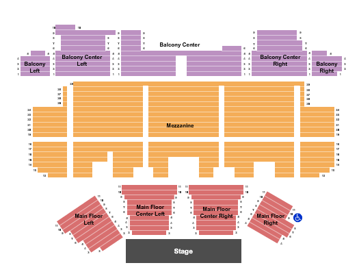 Temple Theater - Meridian Seating Chart