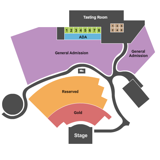 The Amphitheater at Dant Crossing Seating Map
