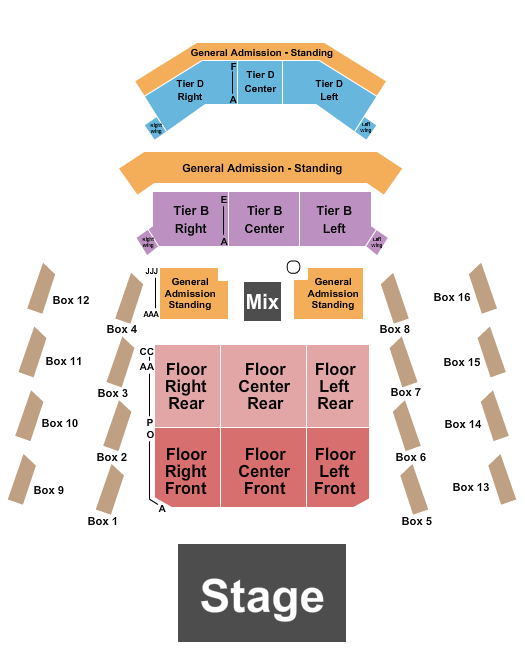 The Anthem - D.C. seating chart event tickets center