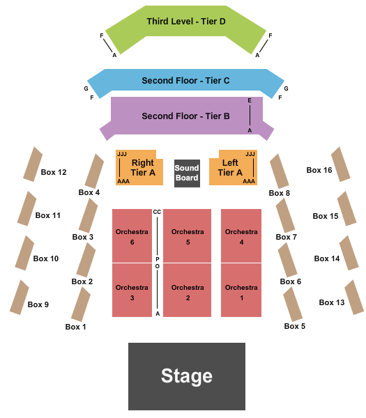 seating chart for The Anthem - D.C. Endstage 3 - eventticketscenter.com