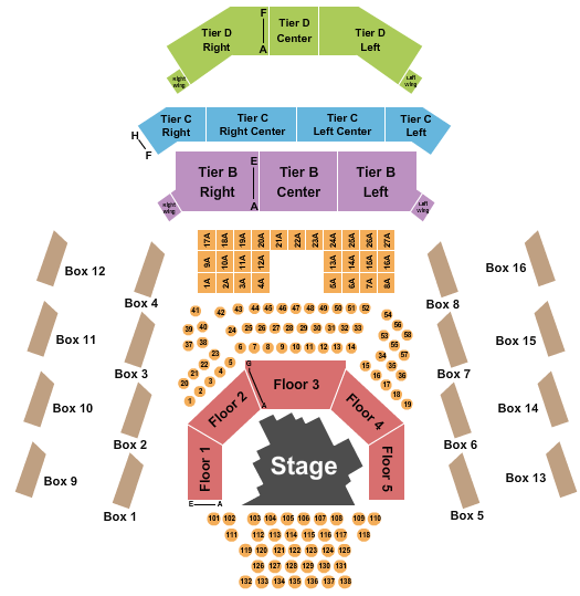 The Anthem - D.C. Mamma Mia seating chart - eventticketscenter.com