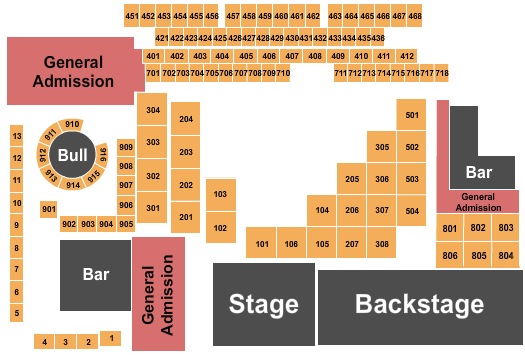 seating chart for The Canyon - Montclair Calico Jack - eventticketscenter.com