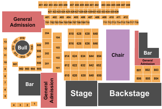 The Canyon - Montclair seating chart event tickets center