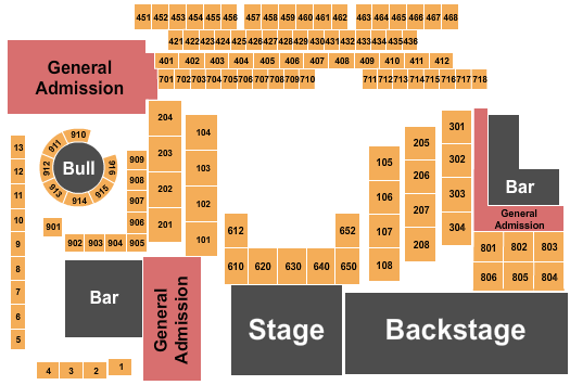 seating chart for The Canyon - Montclair Kingdom Come - eventticketscenter.com