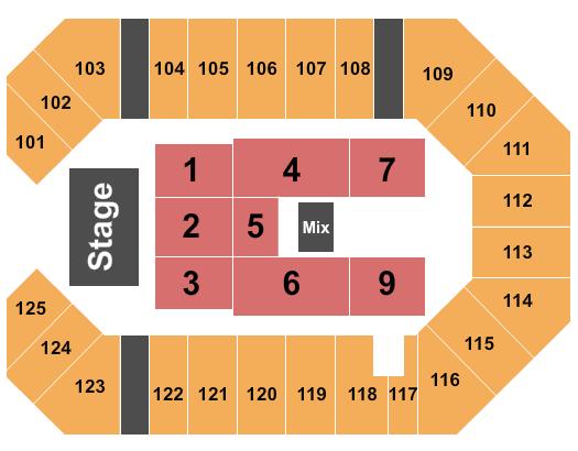 The Corbin Arena - KY Floor Plan