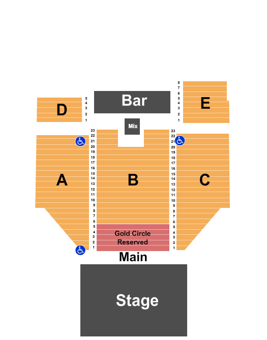 seating chart for The Criterion - Oklahoma City Ginger Billy - eventticketscenter.com