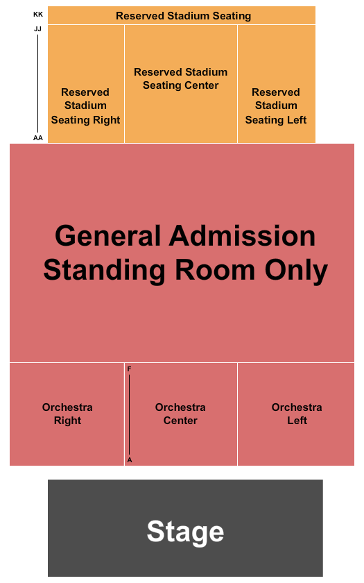 The Fillmore - New Orleans Endstage 3 seating chart - eventticketscenter.com