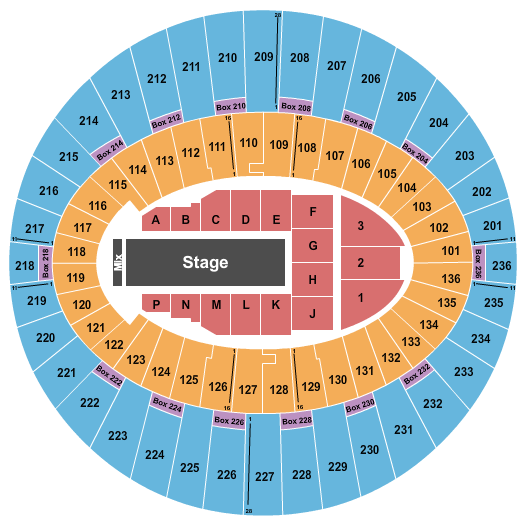 The Forum - Los Angeles seating chart event tickets center