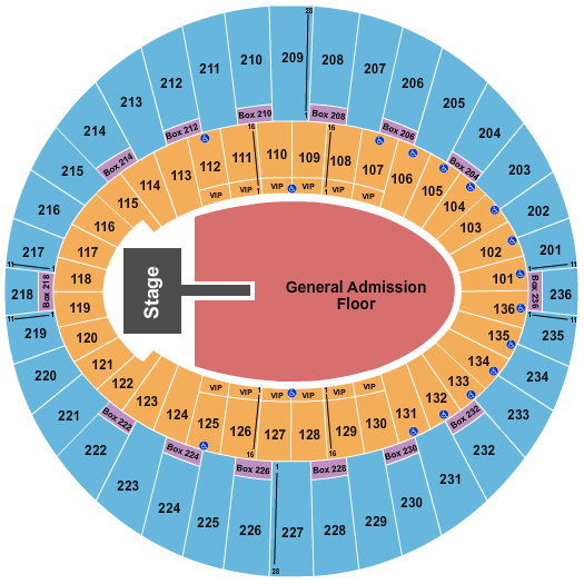Billie Eilish The Forum - Los Angeles Seating Chart