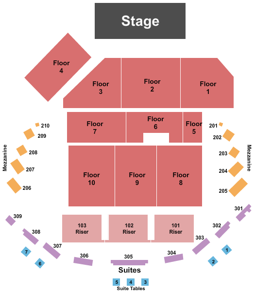 The Hall at Maryland Live seating chart event tickets center
