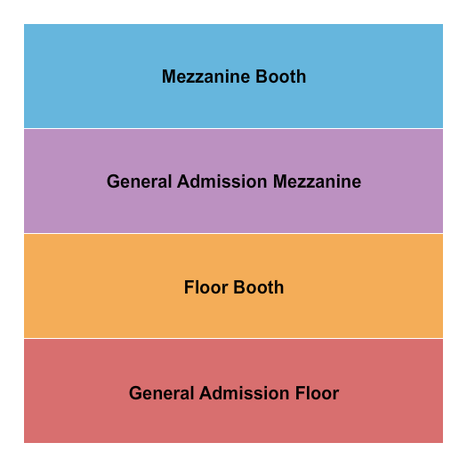 seating chart for The Jones Assembly GA - Flr Boothes Mezz - eventticketscenter.com