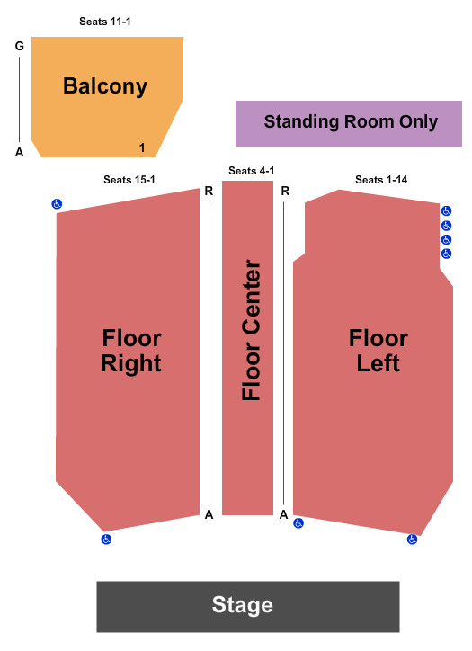 seating chart for The Kent Stage Endstage 2 - eventticketscenter.com