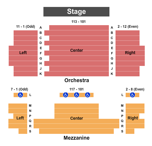 The Lamp Theatre Seating Chart