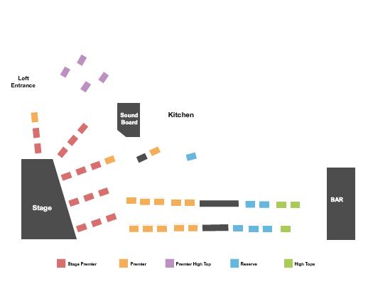 The Loft at City Winery - NYC Seating Chart