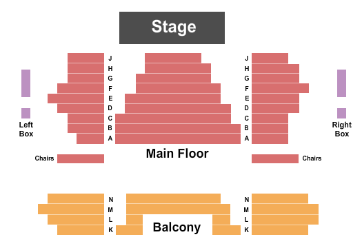 The Mabel Tainter Seating Chart
