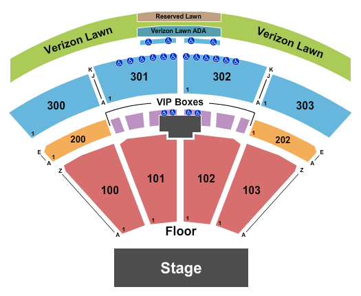 seating chart for The Pavilion at Toyota Music Factory ALICIA The World Tour - eventticketscenter.com