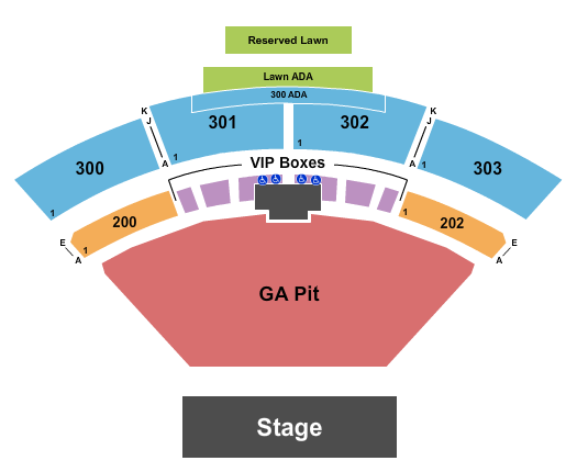 seating chart for The Pavilion at Toyota Music Factory Machine Gun Kelly - eventticketscenter.com