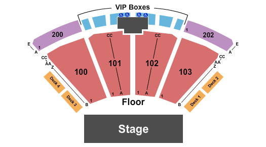 The Pavilion at Toyota Music Factory Endstage - No Lawn/No Upper Level seating chart - eventticketscenter.com
