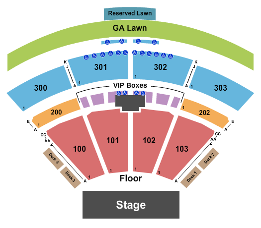 The Pavilion at Toyota Music Factory Seating Chart