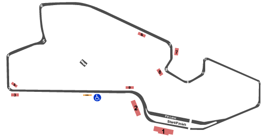 The Raceway at Belle Isle Seating Map