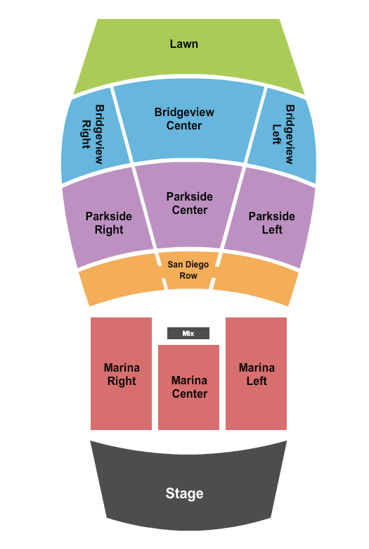 The Rady Shell at Jacobs Park seating chart event tickets center