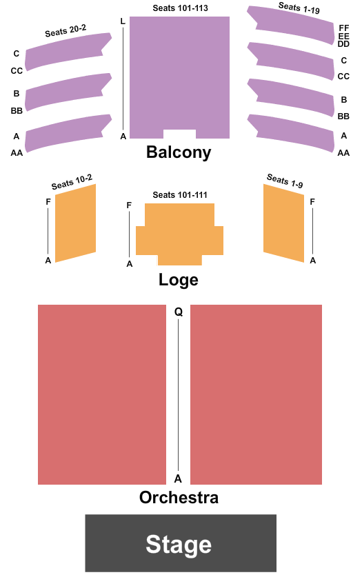 The Space at Westbury Seating Chart