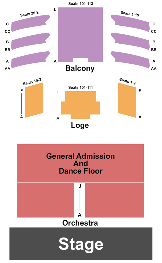 The Space at Westbury seating chart event tickets center
