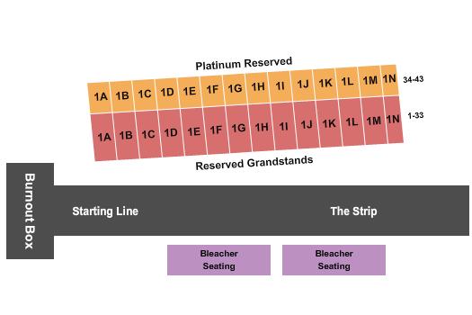 The Strip at Las Vegas Motor Speedway Seating Map