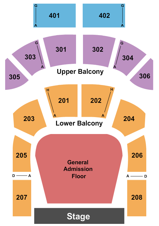 The Tabernacle - GA seating chart event tickets center