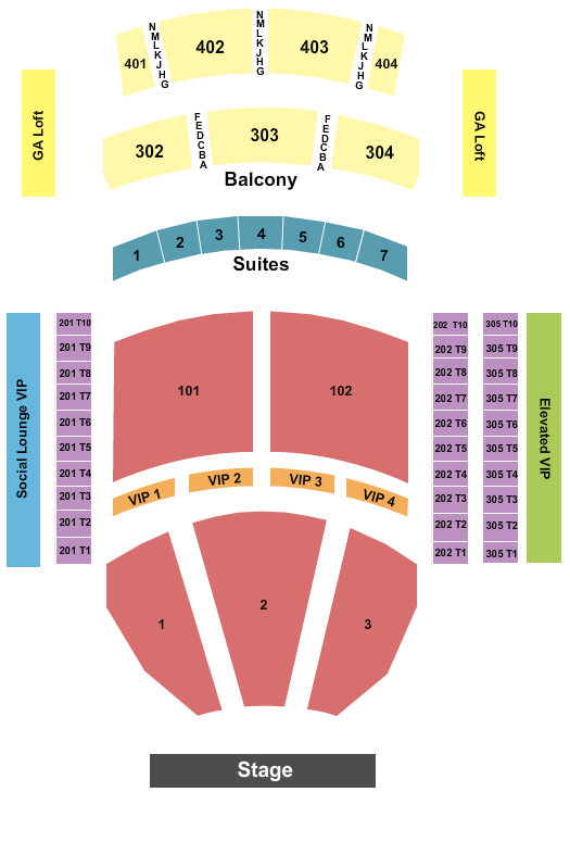 Journey The Theater at Virgin Hotels - Las Vegas Seating Chart