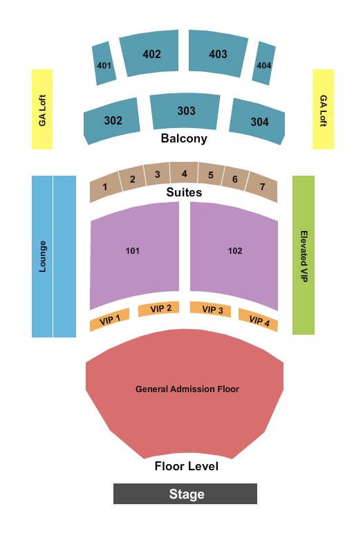 The Theater at Virgin Hotels - Las Vegas seating chart event tickets center