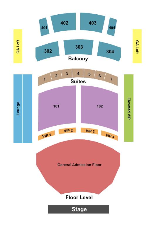 The Theater at Virgin Hotels - Las Vegas Floor Plan