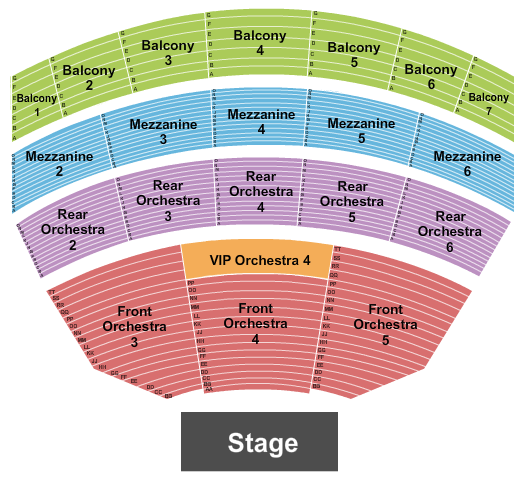 The Theatre at Resorts World Las Vegas Floor Plan
