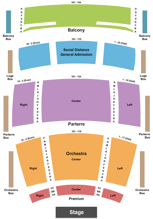 The Soraya Great Hall At The Valley's Center for the Performing Arts - CSUN Floor Plan