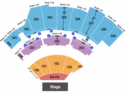 The Wharf Amphitheatre Old Dominion seating chart - eventticketscenter.com