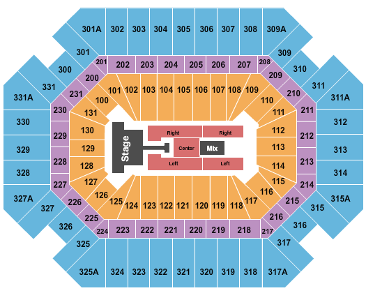 Thompson Boling Arena Floor Plan