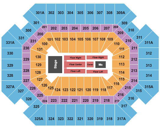 Thompson Boling Arena Floor Plan
