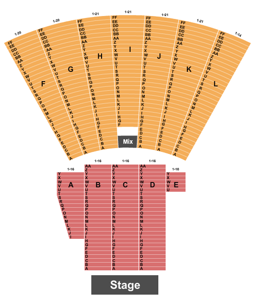 Toledo Zoo Amphitheatre seating chart event tickets center