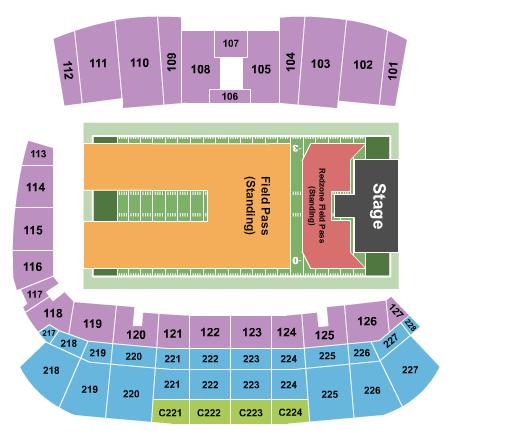 Tom Benson Hall of Fame Stadium (Formerly Fawcett Stadium) Seating Chart