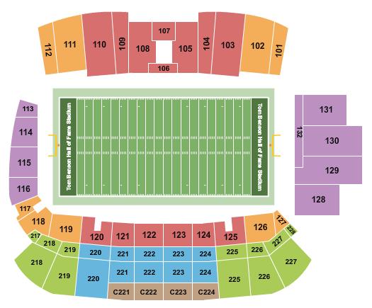 Tom Benson Hall of Fame Stadium Floor Plan