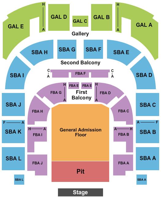 Township Auditorium Floor Plan