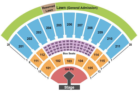 Toyota Amphitheatre (Formerly Sleep Train Amphitheatre - Wheatland) Seating Chart