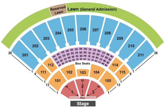 seating chart for Toyota Amphitheatre Endstage 2 - eventticketscenter.com