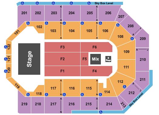 Toyota Arena - Ontario Floor Plan