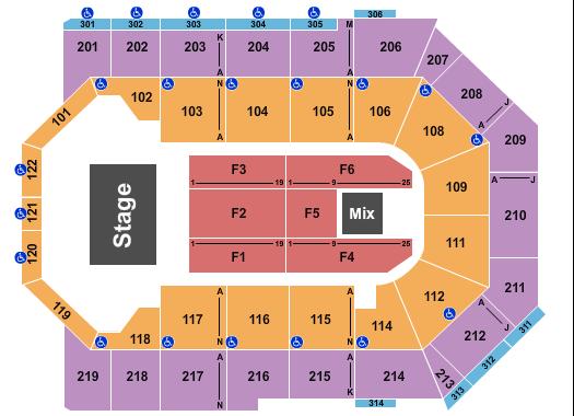Toyota Arena - Ontario Seating Chart
