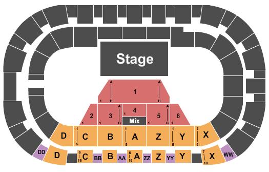 Toyota Center - Kennewick Seating Chart Plan