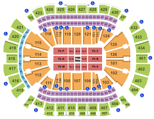 Toyota Center - TX Seating Map