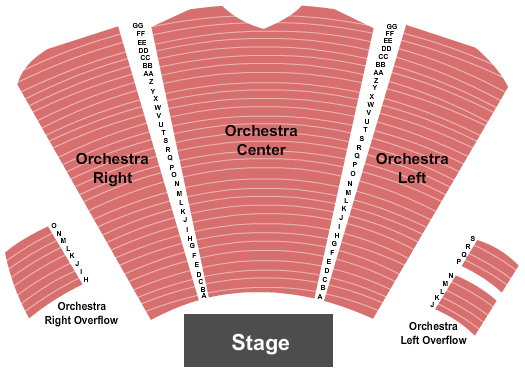 Tuacahn Amphitheatre and Centre for the Arts Seating Map