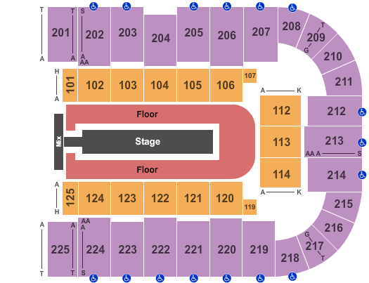 Tucson Arena seating chart event tickets center
